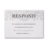 Love Everlasting - Response Card and Envelope - Fluorescent White