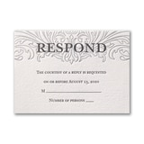Love Everlasting - Response Card and Envelope - Lettra Pearl White