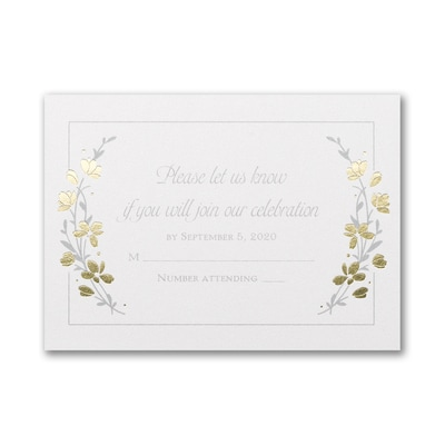 Timeless Garden - Double Thick Response Card and Envelope