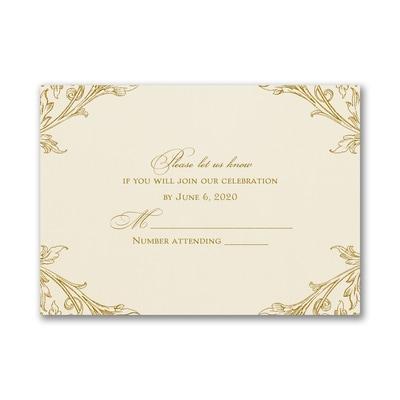 Elegant Romance - Response Card and Envelope