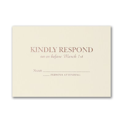 Sophisticated Elegance - Response Card and Envelope