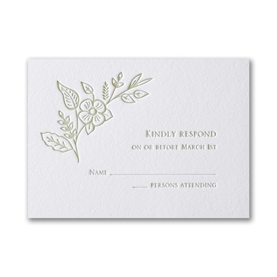 Refined Floral - Response Card and Envelope