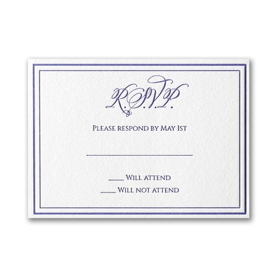 Luxurious Love - Response Card and Envelope
