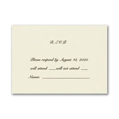 Ecru - Response Card and Envelope