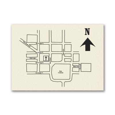 Ecru Horizontal - Direction Card