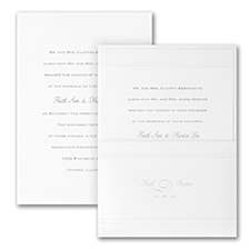Elegance in White Shimmer - Invitation