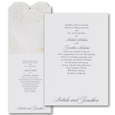laser cut invitation: Beautiful Vows