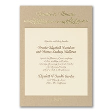 Luxury wedding invitations: Naturally in Love