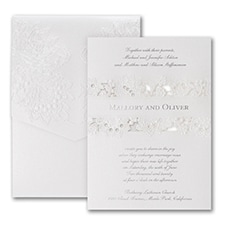 laser cut invitation: Forever Charming