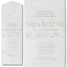 laser cut invitation: Forever Charming