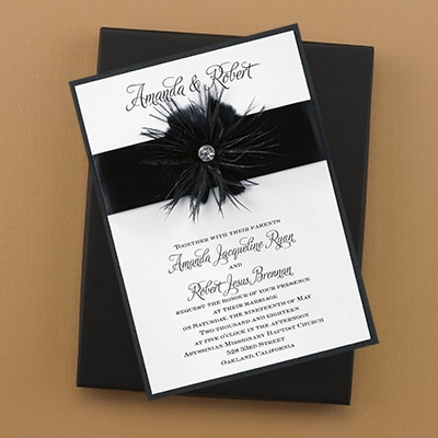 Fanciful Feathers - Invitation
