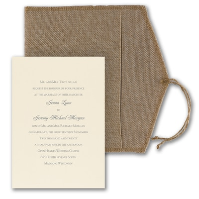 Rustic Love Letter - Invitation with Box
