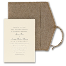 Luxury wedding invitations: Rustic Love Letter