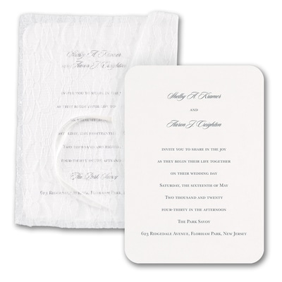Love and Lace - Invitation with Envelope