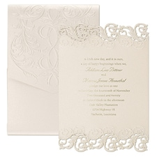 Luxury wedding invitations: Shimmering Elegance