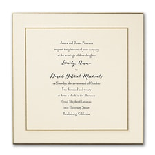 Luxury wedding invitations: Double Dazzle