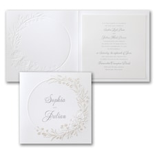 Luxury wedding invitations: Shining Greenery