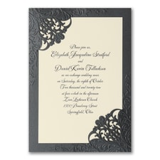 laser cut invitation: Dashing Elegance