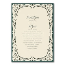 laser cut invitation: Romantic Impression