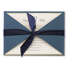 Joyful Brilliance - ribbon invitation