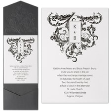 Pocket Invitation: Embossed Flourish
