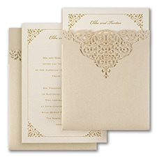 Luxury wedding invitations: Through the Shimmer