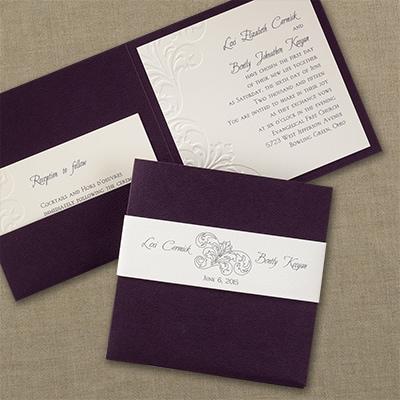 Raisin Flourish Invitation Wedding Invitations Carlson Craft