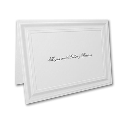 A Royal Frame - Thank You Note and Envelope - White