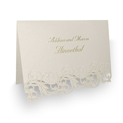 Shimmering Elegance - Thank You Note and Envelope