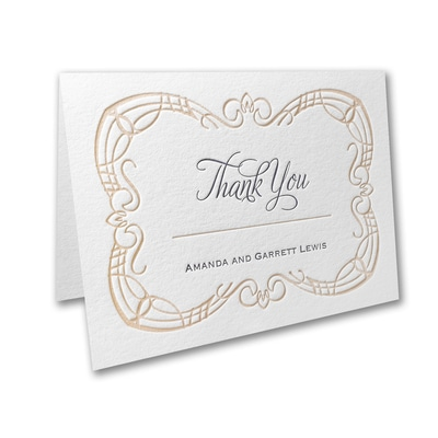 Picnic for Two - Thank You Card and Envelope
