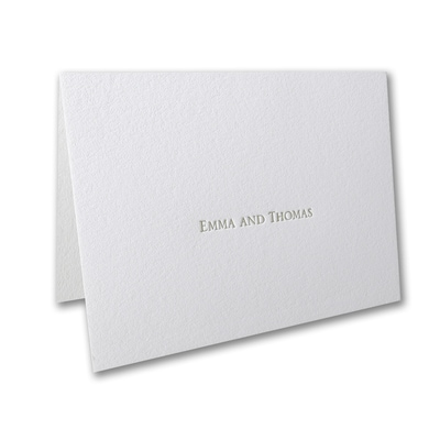 Refined Floral - Thank You Note