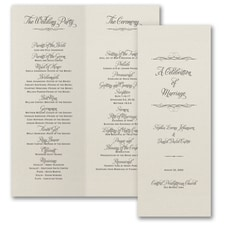 Classic Romance - Wedding Program