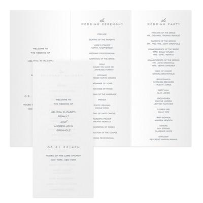 Wedding Day Bliss - Program