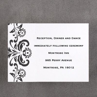 Hanging Damask - Reception Card