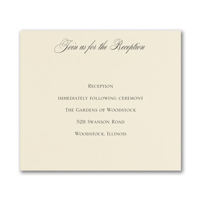 Decorative Day - Reception Card