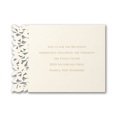 Goddess of Love - Reception Card