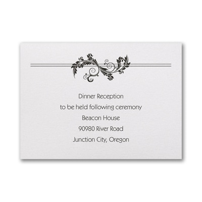 Embossed Flourish - Reception Card