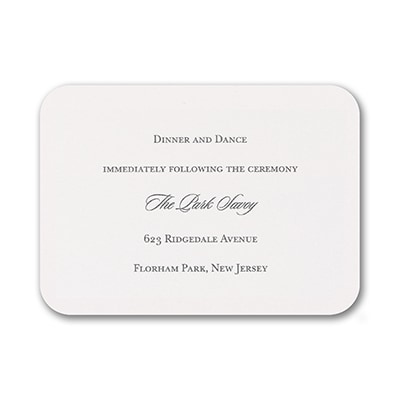 Love and Lace - Reception Card