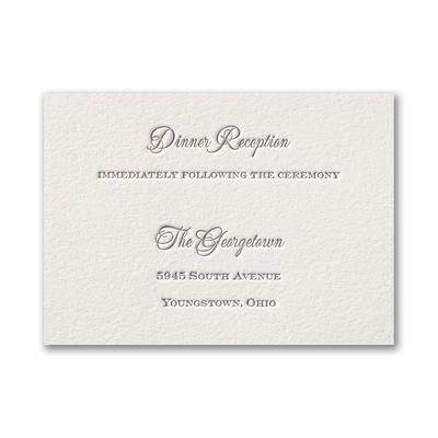 Romantic Impressions - Reception Card