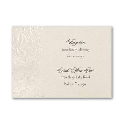 Vintage Doily - Reception Card