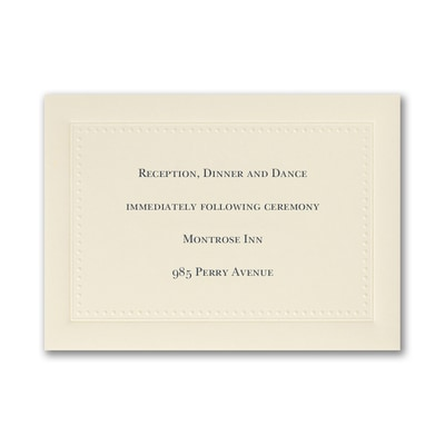 This is Forever - Reception Card
