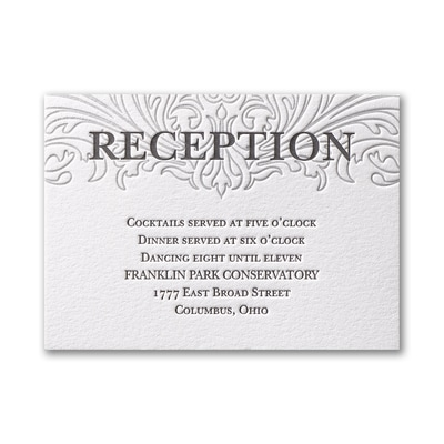 Love Everlasting - Reception Card - Fluorescent White
