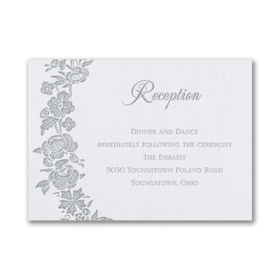 Rosy Wreath - Reception Card