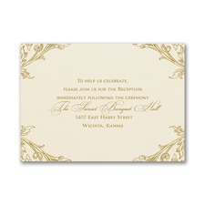 Elegant Romance - Reception Card