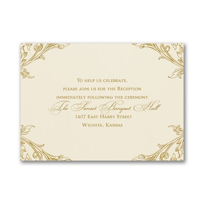 Elegant Romance - Reception Card