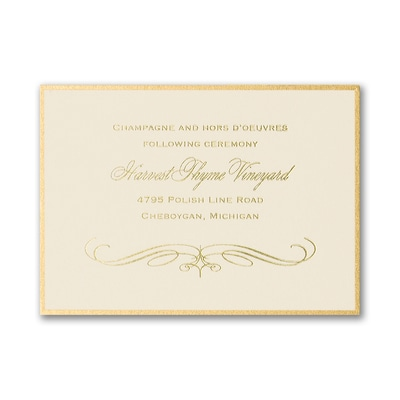 Royalty - Reception Card