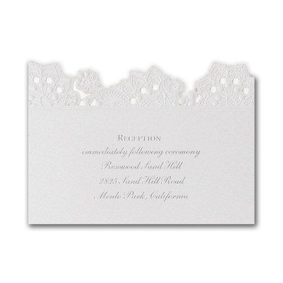 Forever Charming - Reception Card