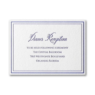 Luxurious Love - Reception Card