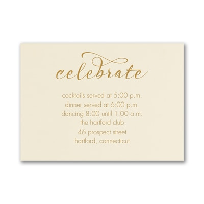 Wrapped Romance - Reception Card