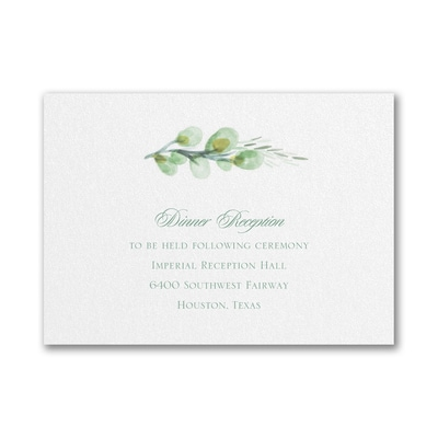 Watercolor Elegance - Double Thick Reception Card